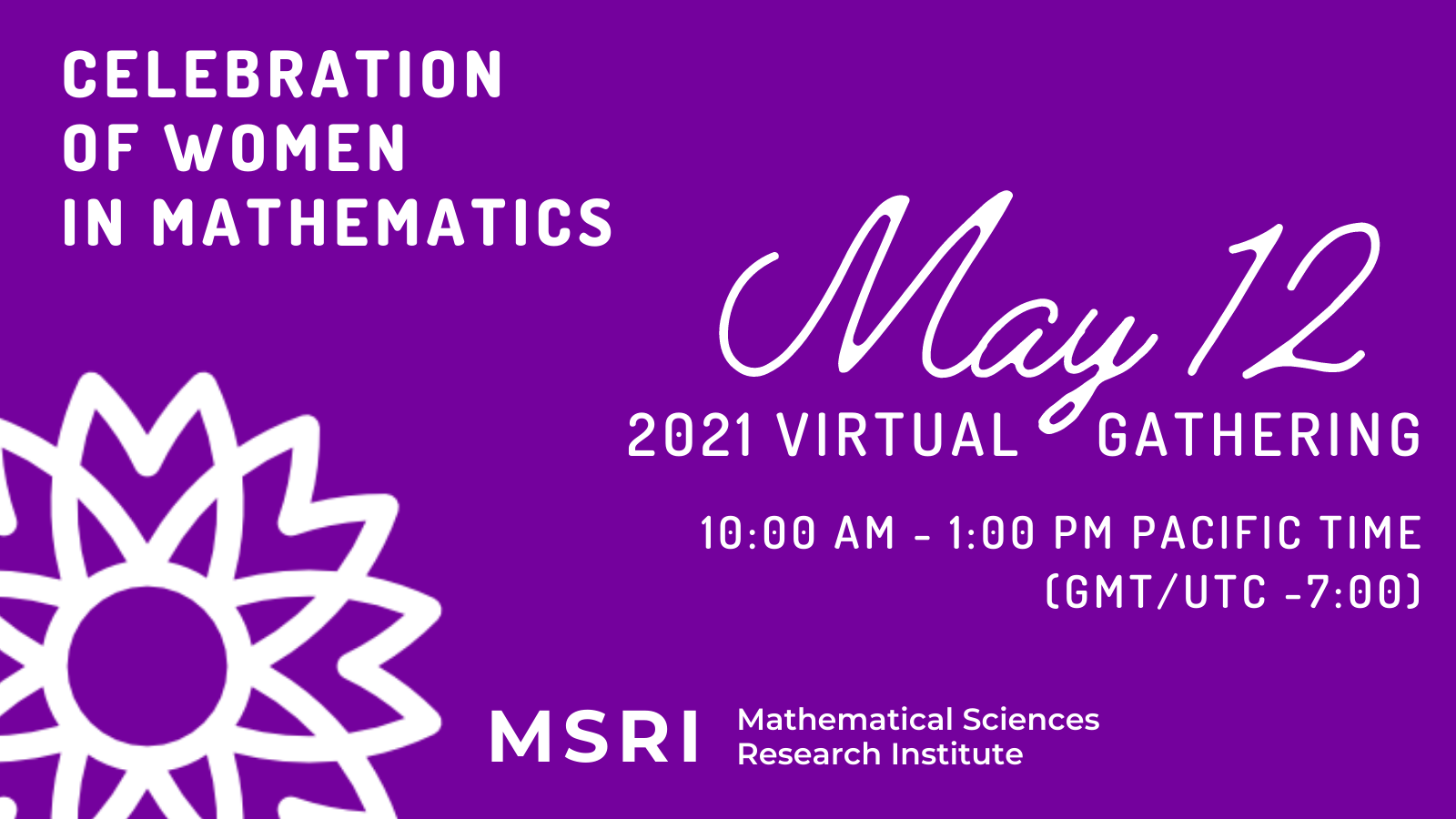 MSRI May 12 event promotional image