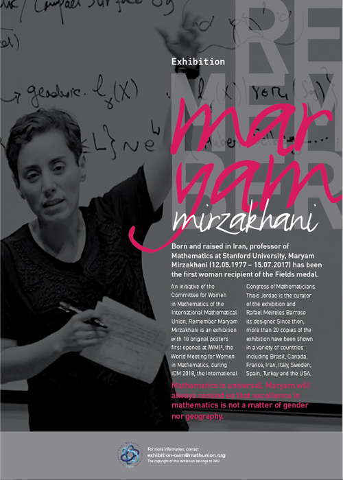 Flyer for Remember Maryam Mirzakhani Exhibit